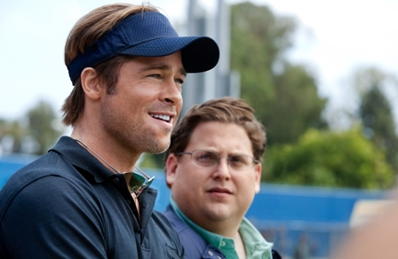 """Brad Pitt, left, and Jonah Hill star in Columbia Pictures'  drama """"Moneyball."""""""